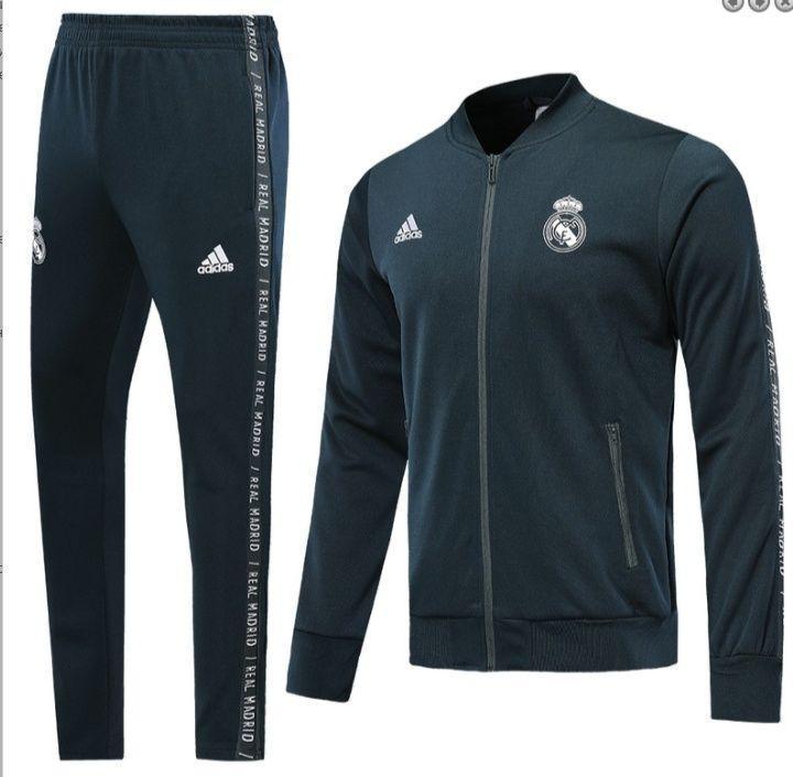Спортивный костюм Реал Мадрид/Real Madrid( Испания, Примера ), серый, сезон 2019-2020