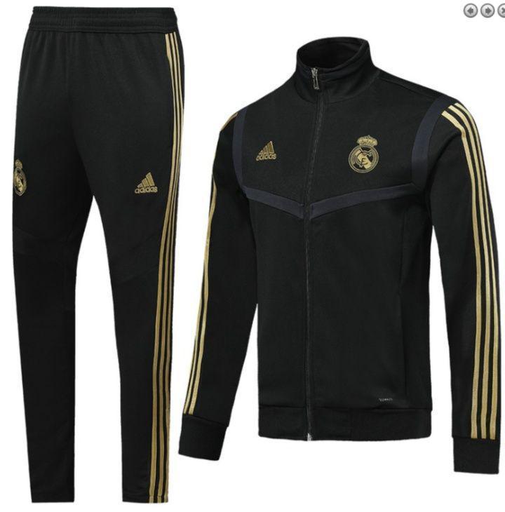 Спортивный костюм Реал Мадрид/Real Madrid ( Испания, Примера ), черный, сезон 2019-2020