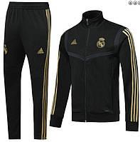 Спортивный костюм Реал Мадрид/Real Madrid ( Испания, Примера ), черный, сезон 2019-2020, фото 1