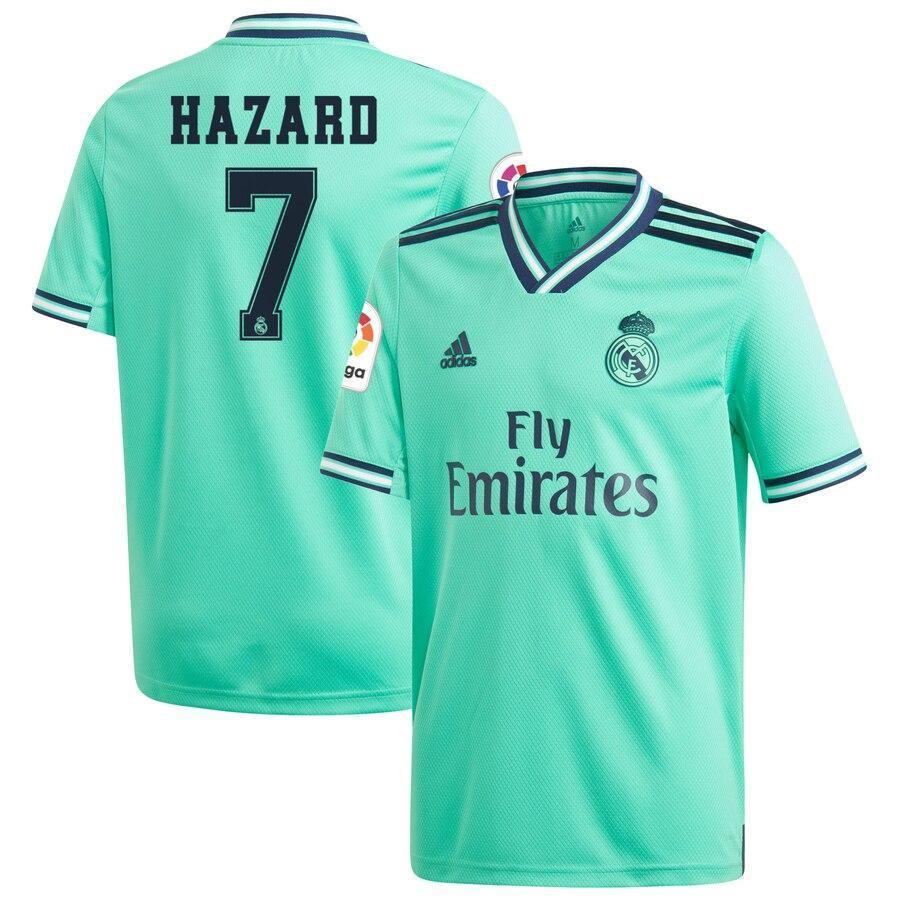 Детская футбольная форма Реал Мадрид/Real Madrid Hazard 7(Испания,Примера), резервная, 19-20 фанатская версия