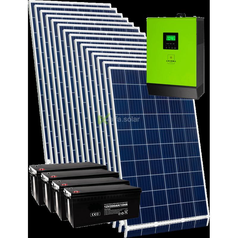 Сонячна гібридна електростанція на 4 квт з підключенням акумуляторів