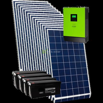 Сонячна гібридна електростанція на 4 квт з підключенням акумуляторів, фото 2