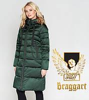 Воздуховик Braggart Angel's Fluff 47250 | Женская зимняя куртка зеленая, фото 1