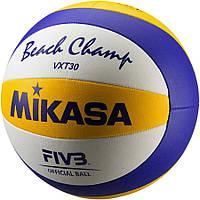 Мяч пляжного волейбола mikasa vxt30, сшитый (оригинал)