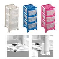 Какие же пластиковые комоды, стеллажи, емкости и ящики для хранения можно купить?
