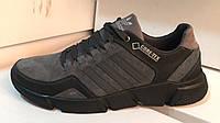 Мужские замшевые кроссовки мокасины Adidas черные 40, 41, 42, 43, 44, 45