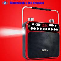FM приемник с МP3 Tongboxin S-801 мощный динамик, мегафон, светодиодный фонарик, запись звука, Bluetooth, фото 1