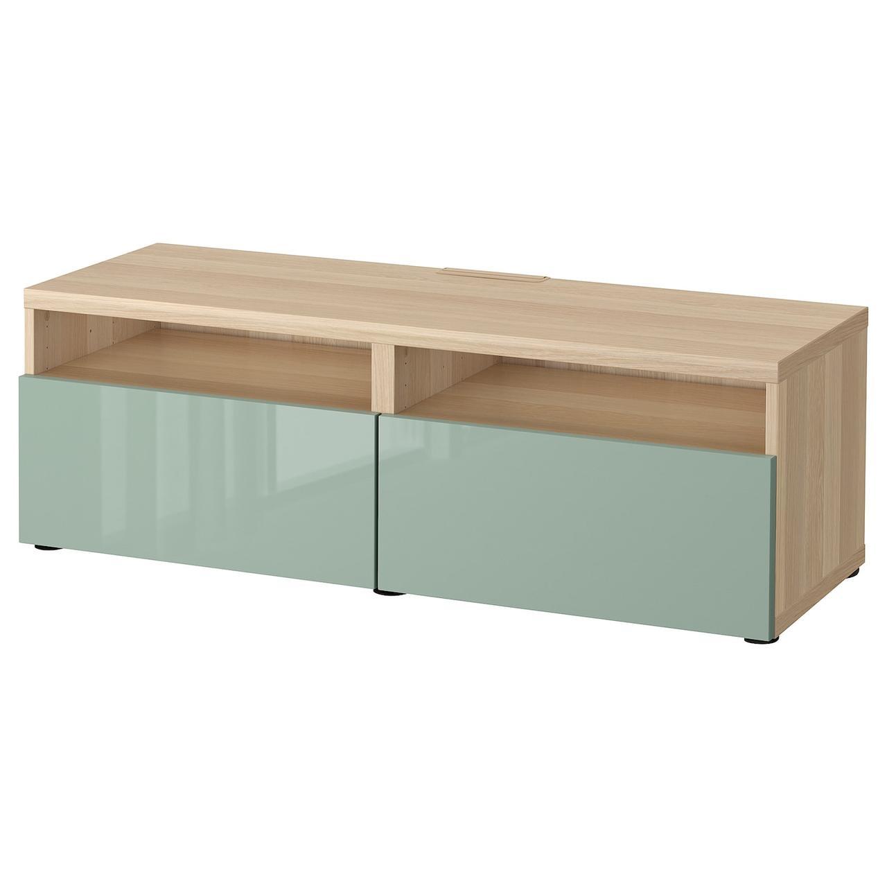 IKEA BESTA Тумба под телевизор 120x42x39 см (293.244.43), фото 1