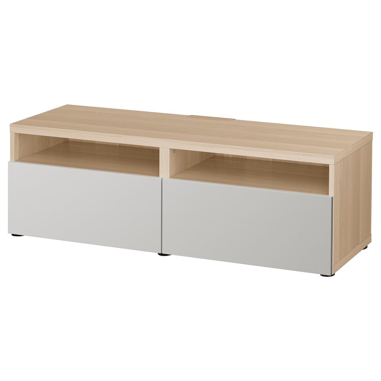 IKEA BESTA Тумба под телевизор 120x42x39 см (893.243.60), фото 1