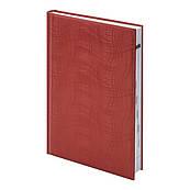 Ежедневник недатированный А5 Агенда Brunnen Wave, красный