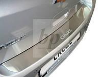 Защитная хром накладка на задний бампер (планка без загиба) Chevrolet Cruze 5D (шевроле круз хэтчбек 2011+)