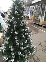 Ель Лидия елка искусственная 1,5 м с белым инеем на ветках + тренога, фото 1