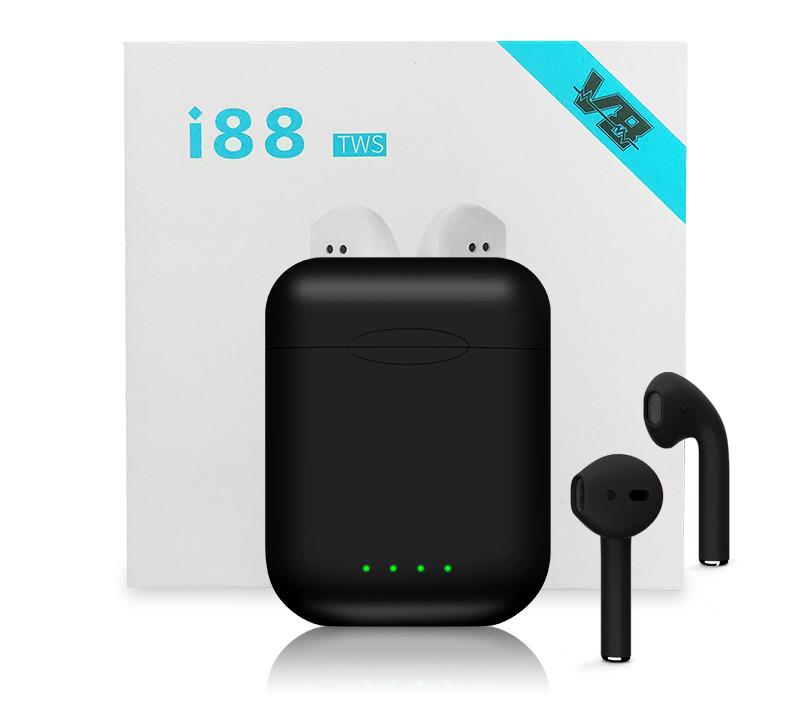 Беспроводные Наушники Airpods i88 Сенсорные Стерео Bluetooth TWS Black