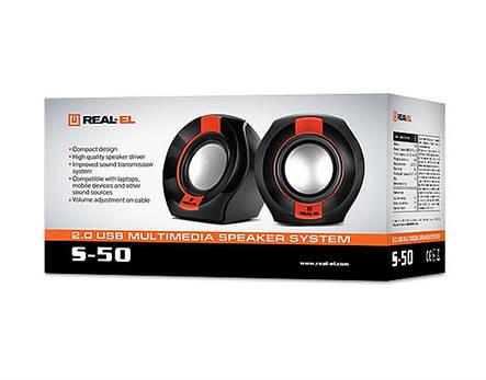 Акустическая система REAL-EL S-50 Black/Red, фото 2