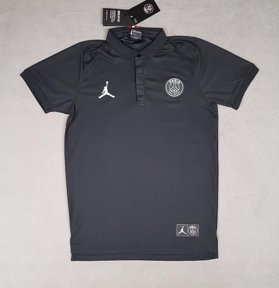 Футболка поло ПСЖ/PSG ( Франция, Лига 1 ), черная, сезон 2019-2020