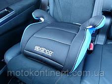 Детское Автокресло Бустер Sparco F100K Blue/Grey - Италия  Для детей от 3-х до 12-ти лет, фото 3