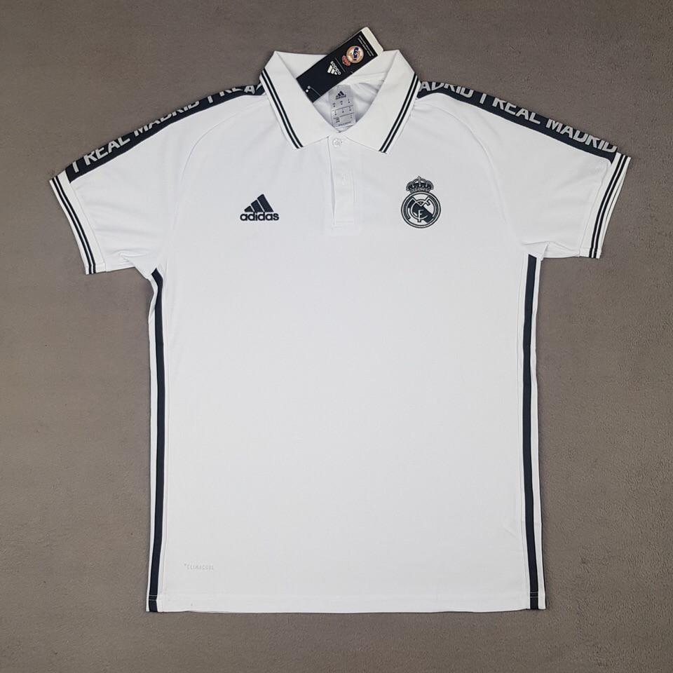 Футболка поло Реал Мадрид/Real Madrid( Испания, Примера ), белая, сезон 2019-2020