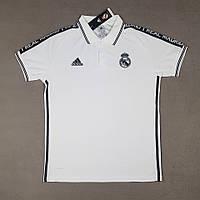 Футболка поло Реал Мадрид/Real Madrid( Испания, Примера ), белая, сезон 2019-2020, фото 1