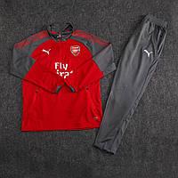 Костюм тренировочный Арсенал/Arsenal ( Англия, Премьер Лига ), красный, сезон 2017-2018, фото 1