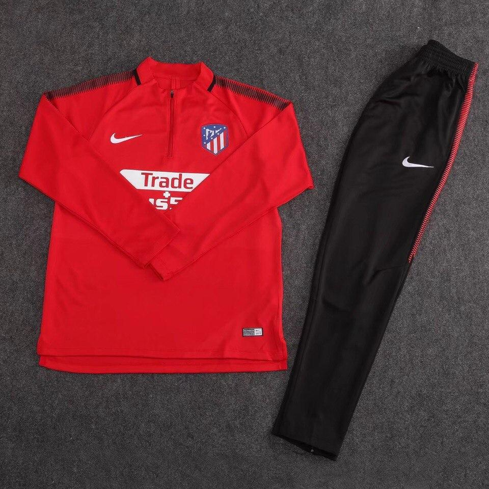 Костюм тренировочный Атлетико Мадрид/Atlético de Madrid ( Испания, Примера ), красный, сезон 2017-2018