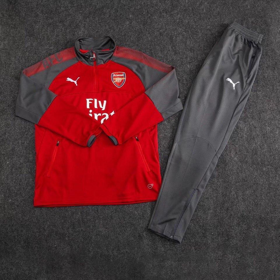 Детский костюм тренировочный Арсенал/Arsenal ( Англия, Премьер Лига ), красный, сезон 2017-2018