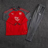 Детский костюм тренировочный Арсенал/Arsenal ( Англия, Премьер Лига ), красный, сезон 2017-2018, фото 1