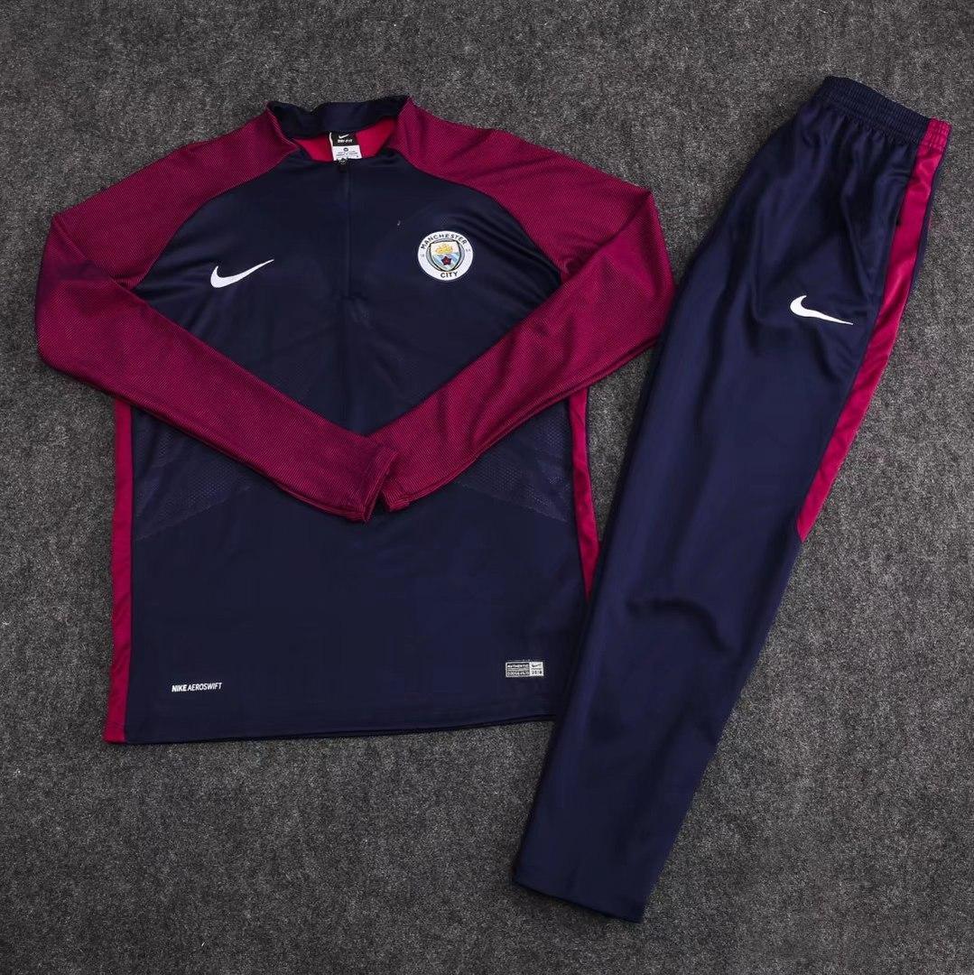 Детский костюм тренировочный Манчестер Сити/Manchester City (Англия, Премьер Лига),сине-фиолетовый,сезон 17-18