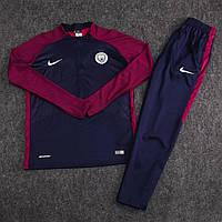 Детский костюм тренировочный Манчестер Сити/Manchester City (Англия, Премьер Лига),сине-фиолетовый,сезон 17-18, фото 1