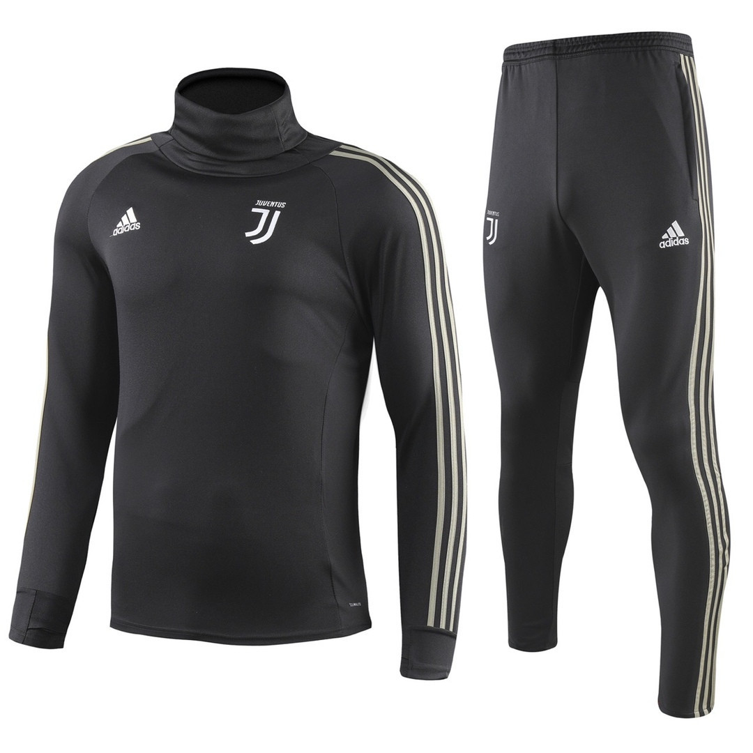Костюм тренировочный Ювентус/Juventus ( Италия, Серия А ), черный, сезон 2018-2019