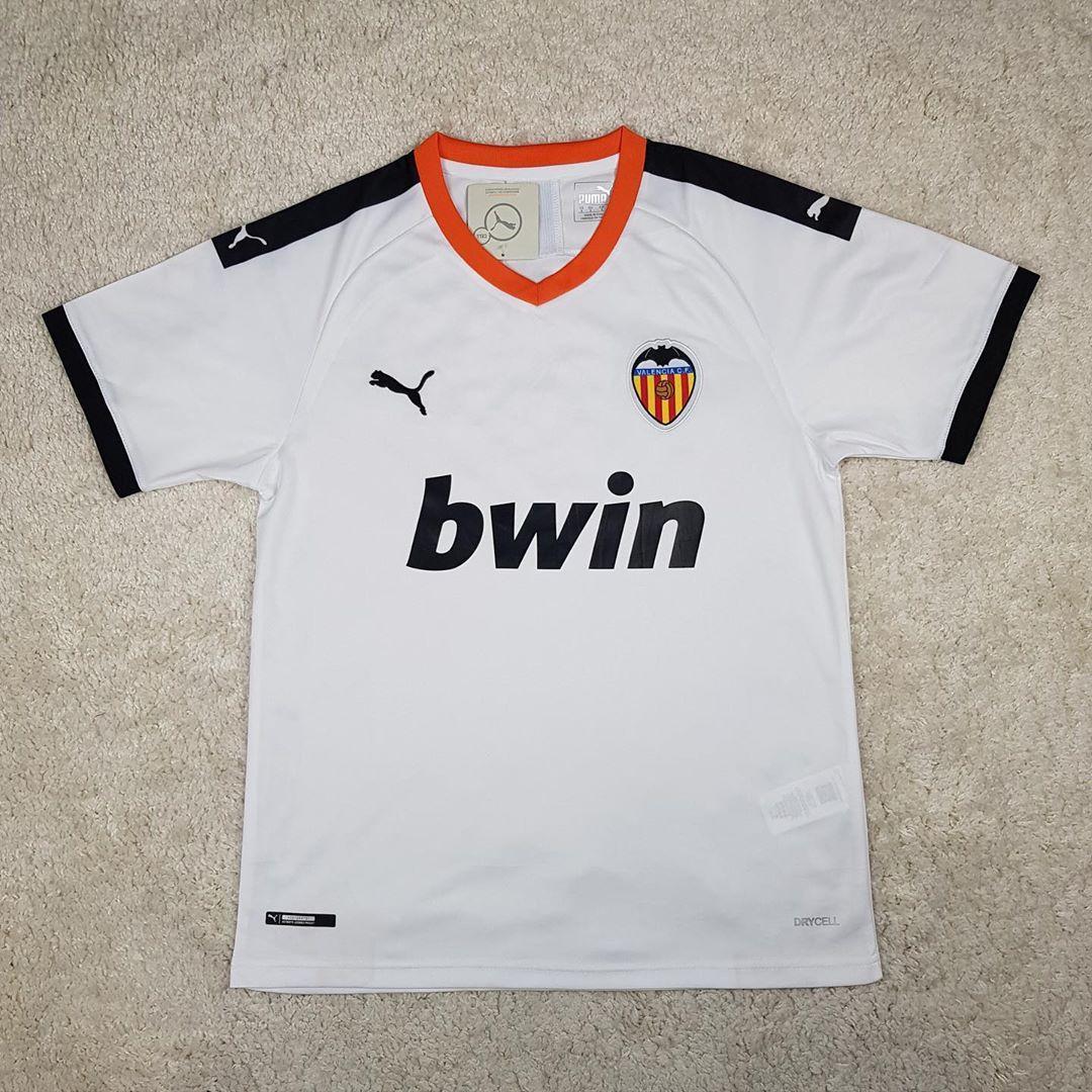 Футболка Валенсия/Valencia ( Испания, Ла Лига ), белая, сезон 2019-2020