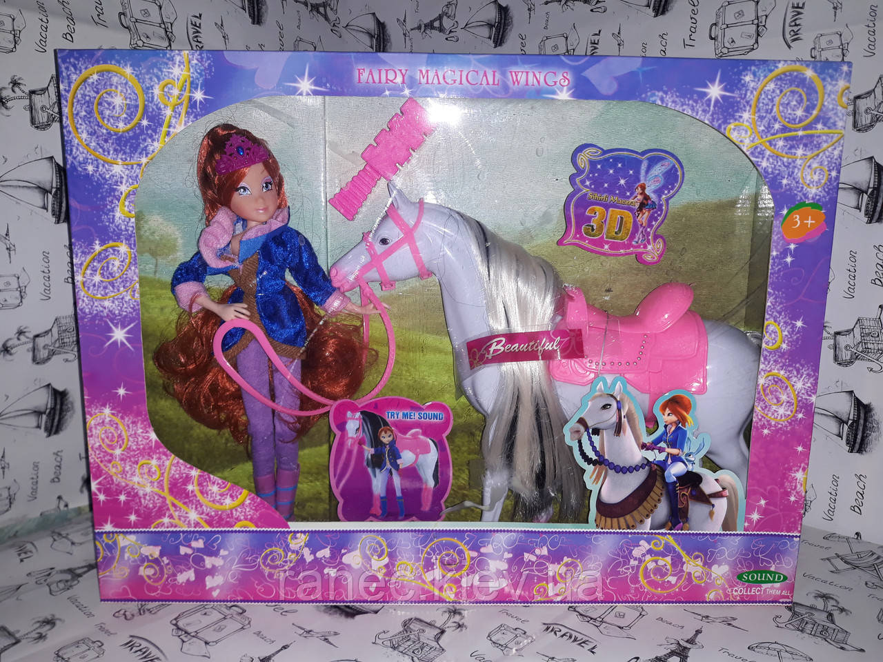 Кукла Винкс с Пони ( лошадкой ) к.827 наездница, с лошадью, в коробке