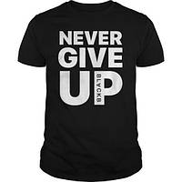 Футболка NeverGiveUp (черная)