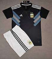 Детская футбольная форма сборной Аргентины 2018 черная, фото 1