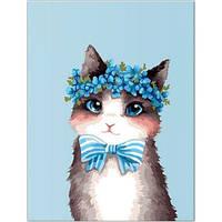 "Картина по номерам. Brushme ""Стильный котик"" GX22297"