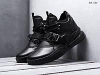 Мужские кроссовки Nike Air Force 270, кожа, пена, черные.