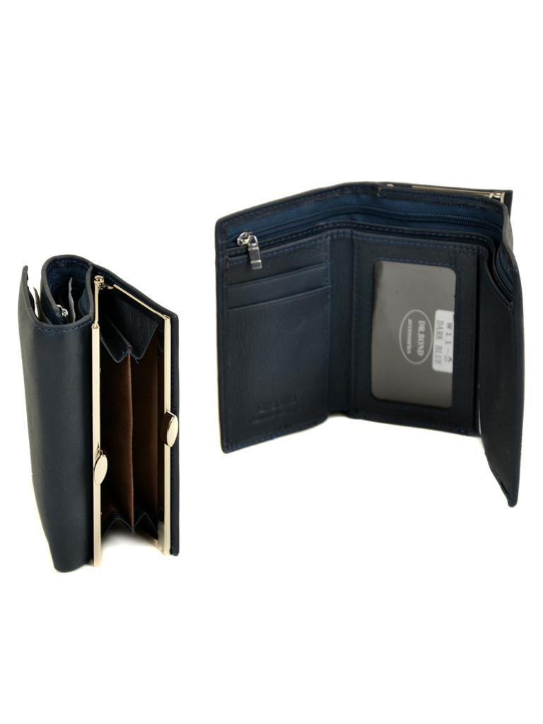 Вместительный женский синий кошелёк мягкая кожа на магнитной застежке DR. BOND 12*8*3,5 (W11-2 dark-blue)
