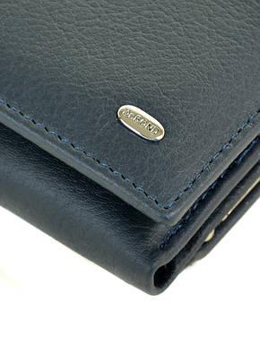 Вместительный женский синий кошелёк мягкая кожа на магнитной застежке DR. BOND 12*8*3,5 (W11-2 dark-blue), фото 2