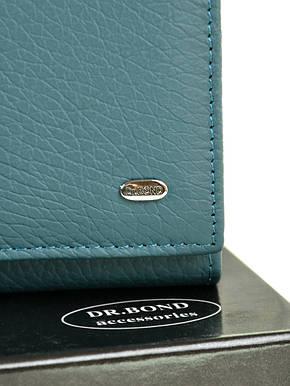 Класичний місткий блакитний гаманець жіночий на магніті шкіра DR. BOND 18,5*9*3,5 (W1-V-2 light-blue), фото 2