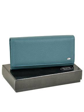 Кожаный удобный кошелёк из натуральной кожи женский голубой на кнопке DR. BOND 18,5*9,5*3,5 (W1-V light-blue), фото 2
