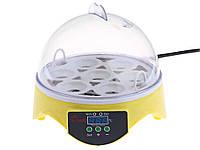 Электрический мини инкубатор на 7 яиц HHD