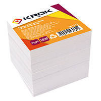 Блок бумаги белый 90х90мм 1000л. Не клеенный KR-1311