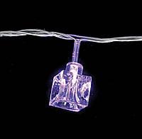 """Светодиодная электрогирлянда Yes! Fun """"Крижинка"""" , 30 лампочок, фіолетов, 3м., прозорий др"""