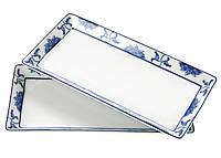 F1-00404, Тарелка, блюдо фарфоровое для суши (набор 2 шт.), , белый-синий