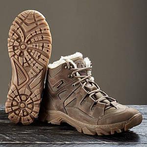 "Ботинки ""Ukr-Tec"" Зима крейзи кожа, 36-46 размеры"