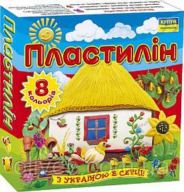 """Пластилин """"Мицар"""" 8 цв. 110 г."""