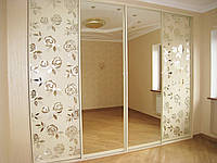 Двери для шкафа-купе пескоструй