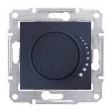Светорегулятор поворотно-нажимной индуктивный 60-500 Вт Графит Sedna SDN2200570