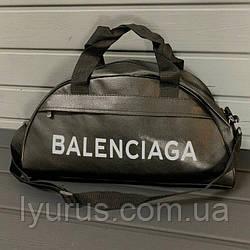 Спортивна фітнес-сумка найк, Balenciaga для тренувань. Чорна. Кожзам