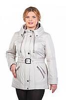 Стильная демисезонная женская куртка больших размеров