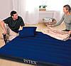 Двухместный надувной матрас с двумя подушками и насосом Intex 64765, 152x203x25 см, фото 2
